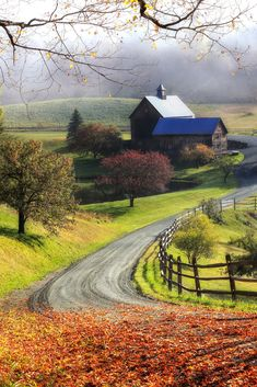 A farm on a rural road in Woodstock, Vermont on a foggy autumn morning. - The orchestra of nature dutifully beckons the mosaic of our soul. ~Robbie George A farm on a rural road in Woodstock, Vermont on a foggy autumn morning. Farm Photography, Landscape Photography Tips, Beautiful Nature Photography, Photography Classes, Portrait Photography, Photography Camera, Photography Backdrops, Aerial Photography, Night Photography