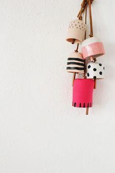 DIY Decorative clay bells