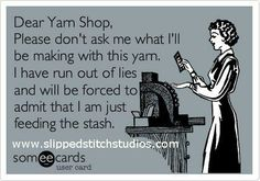 A self-confessed Yarn Diva and Yarn Stasher...