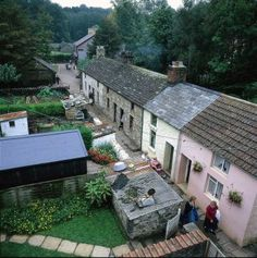 Step back in time - Houses through the ages - Rhyd-y-Car Ironworkers' Houses (1805 to 1985) at the Museum of Welsh Life - St Fagans, Wales