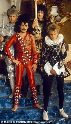 John Deacon (far left) with Queen in 1984