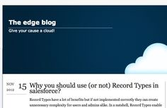 When to use record types in Salesforce