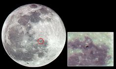 Incredible images show the space station crossing the MOON http://dailym.ai/P4Phm3 #DailyMail