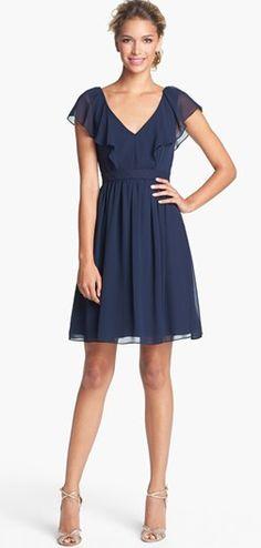 Chiffon ruffle dress. i'm in love!