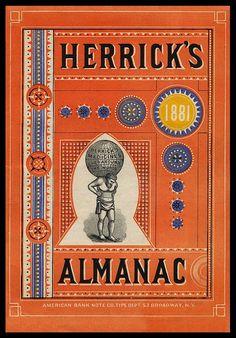 Almanac cover, 1881 Sheaff : ephemera