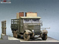 German Army Truck Henschel 33D 1/35 Scale Model Diorama