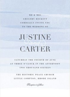 Say I Do to a Serenity colored wedding invitation from Minted.