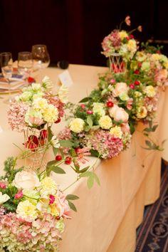 新郎新婦様からのメール シェ松尾青山サロン様の装花