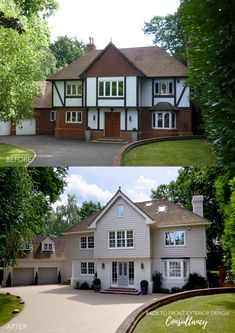 New England remodelling project in Ascot, Berkshire Tudor House Exterior, Modern Bungalow Exterior, House Extension Plans, House Extension Design, Home Exterior Makeover, Exterior Remodel, House Cladding, Facade House, New England Style Homes