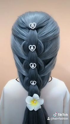 Hairdo For Long Hair, Easy Hairstyles For Long Hair, Up Hairstyles, Braided Hairstyles, Baby Girl Hairstyles, Hair Up Styles, Hair Videos, Hair Designs, Hair Hacks