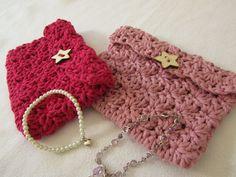 VERY EASY crochet mini shell stitch purse tutorial ༺✿Teresa Restegui http://www.pinterest.com/teretegui/✿༻