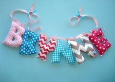 Customized Girls name Banner fabric letters by LittleFairyCottage