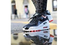 2015 Nike Air Max 90 Star Series Black White Red Couple Style Hombre Running Zapatos Cheap Online