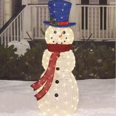 pre lit lighted 5 39 outdoor twinkle metal snowman yard christmas lights decor new ebay. Black Bedroom Furniture Sets. Home Design Ideas