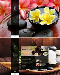 Template 43770 - Spa Salon One-page Website Template Design with Gallery and Drop-down Menu
