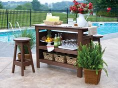 outdoor bar tables