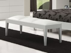 Banquette. Mod. BELLUCI Banquettes, Bed, Furniture, Home Decor, White Leather, Booth Seating, Stream Bed, Banquet, Interior Design