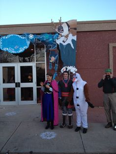 Frozen Christmas Party:  Characters from Frozen were scattered throughout the event greeting guests.