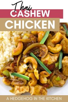 This creamy, delicious, fragrant authentic Thai cashew chicken is the perfect restaurant-style recipe to make at home! #Thai #ThaiCashewChicken #ChickenRecipes Romantic Dinner Recipes, Dinner Recipes Easy Quick, Easy Dinners, Summer Recipes, French Vegetarian Recipes, Indian Food Recipes, Thai Recipes, Thai Cashew Chicken, Asian Chicken Recipes