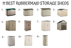 How to Assemble a Rubbermaid Storage Shed - Decor Ideas Rubbermaid Storage Shed, Plastic Storage Sheds, Diy Storage Shed, Outdoor Storage Sheds, Garden Tool Storage, Shed Design Plans, Wood Shed Plans, Diy Shed Plans, Shed Cabin