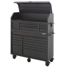 Husky Heavy-Duty 56 in. W Deep Combination Tool Chest and Rolling Cabinet Set in Matte - The Home Depot Tool Storage, Craft Storage, Garage Storage, Storage Organization, Soft Close Drawer Slides, Safety Latches, Electronic Recycling, Led Work Light, Small Drawers