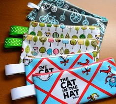 Oilcloth Pencil Cases - My Version :) — Sew Can She Pencil Case Pattern, Zipper Pencil Case, Diy Pencil Case, Sewing Hacks, Sewing Tutorials, Sewing Crafts, Sewing Projects For Kids, Sewing For Kids, Sewing Patterns Free