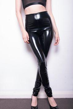 Click To Enlarge: Satan Slicker leggings front view