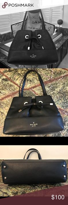 EUC Black Leather Kate Spade Bag Beautiful black leather Kate Spade Shoulder Bag is the perfect size for your everyday essentials. Stylish and classic. Open to reasonable offers. Bundle for a private discount and to save on shipping! kate spade Bags