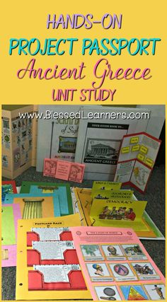 Hands-on Project Passport: Ancient Greece Unit study gives wonderful learning experience in the world history with several alive learning skills covered. projects Hands-on Ancient Greece Unit Study World History Projects, World History Facts, World History Classroom, Ancient World History, World History Lessons, Greek History, History Memes, British History, Women's History