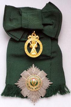 Order of the Thistle insignia; sash badge, 1831, 57mm x 41mm, John James Edington, London; breast star, mid 19th Century, 92mm x 86mm, R. & S. Garrard, Spada Collection.