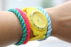 diy #lanyard #bracelets
