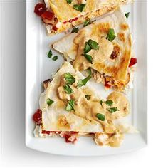 Smoked Salmon Quesadillas with Creamy Chipotle Sauce Recipe -These extra-special… Best Fish Recipes, Salmon Recipes, Seafood Recipes, Mexican Food Recipes, Cooking Recipes, Favorite Recipes, Party Recipes, Creamy Chipotle Sauce Recipe, Quesadilla Recipes