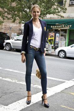 blazer  jeans- street chic