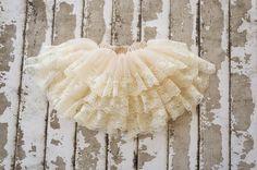 Pettikskirt  Baby pettiskirt girls lace skirt  by PoshPeanutKids, $32.00