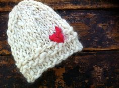 Knit Hat - Valentine's Day Hat - Heart - Sweetheart Knit Hat - Girls Knit Hat  -  Super Soft  -  Infant - Photo Prop - Bonnets - Accessories. $24.00, via Etsy.