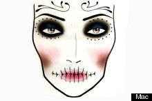 Simple makeup option - tutorial featured on the website. Maybe add some colour, and not use such a pale base.
