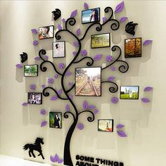 Colorful Family Picture Tree Acrylic Decoration Wall Sticker DIY Art Wall Poster Home Decor Family Tree With Pictures, Family Tree Photo, Picture Tree, Family Tree Wall, Picture Wall, Photo Tree, Family Photos, Family Trees, Wall Pictures