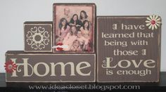 I promised them and now they are here. Two new Family kits Home Blocks are done with dark brown blocks and tan vinyl. There is one block. 2x4 Crafts, Wood Block Crafts, Wooden Crafts, Home Crafts, Crafts To Make, Wood Projects, Craft Projects, Craft Ideas, Diy Ideas