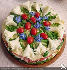 Party – Salattorte Party – salad cake (recipe with picture) of Paradiesabbel Party Salads, Snacks Für Party, Salad Cake, Food Plus, Party Buffet, Brunch Party, Food Decoration, Food Humor, Creative Food