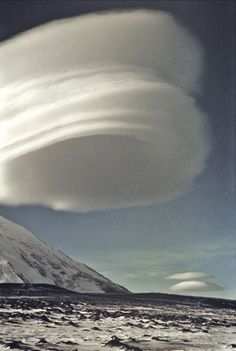 Lenticular Cloud Above the Kamen Volcano, Kamchatka Peninsula, Russia
