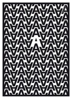Typography poster by Tom Jaeger.I love how the letters were used to create an 'A' through negative space! Web Design, Typo Design, Graphic Design Typography, Home Design, Creative Typography, Typography Letters, Typography Logo, Vintage Typography, Design Graphique