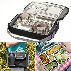 My search for the perfect lunch box is over! I wanted a BPA-free container that included a few separate compartments, and the PlanetBox Rover ($60) has solved all my lunch-from-home needs. It's stainless steel and offers five different-sized compartments to keep my sandwich separate from my fruit (and I love the small center spot that's perfect for a little treat). There are also two stainless containers included to keep wet foods from spilling.  It's dishwasher-safe and comes with a carry…