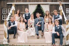 Barn bridal party | Amanda Adams Photography | see more at http://fabyoubliss.com