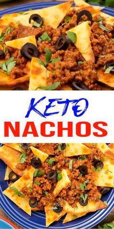 EASY Low Carb Nacho Recipe – BEST Snack, Appetizer or Parties Idea! Perfect keto food idea for dinner, lunch, side dish or appetizer Clean Eating, Stop Eating, Lunch Recipes, Diet Recipes, Low Carb Dinner Recipes, Breakfast Recipes, Easter Keto Recipes, Easy Low Carb Recipes, Sugar Free Recipes Dinner