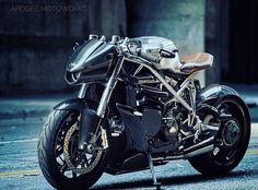 Beast… By @apogeemotoworks .          #ridewithstyle #elegant #inspiration #laclasse #motorcycleart #matterofstyle #fullthrottle #retrostyle #custom #handmade #caferacer #caferacersofinstagram #garage #enjoytheride