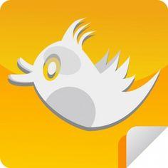 Orange Tweet Icon