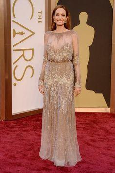 @roressclothes clothing ideas #women fashion maxi dress Angelina Jolie at the 2014 Oscars