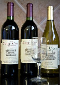 Made a trip to Sister Creek Vineyards yesterday.  Came home with 15 bottles of their Reserve wines that you can't buy anywhere else!
