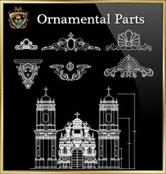 ★【Ornamental Parts of Buildings 6】Download Luxury Architectural Design CAD Drawings--Over 20000+ High quality CAD Blocks and Drawings Download!