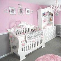 Pink and gray baby princess theme nursery room